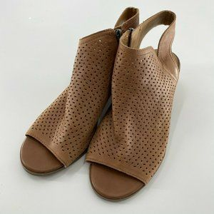 Lucky Brand Peep Toe Perforated Booties